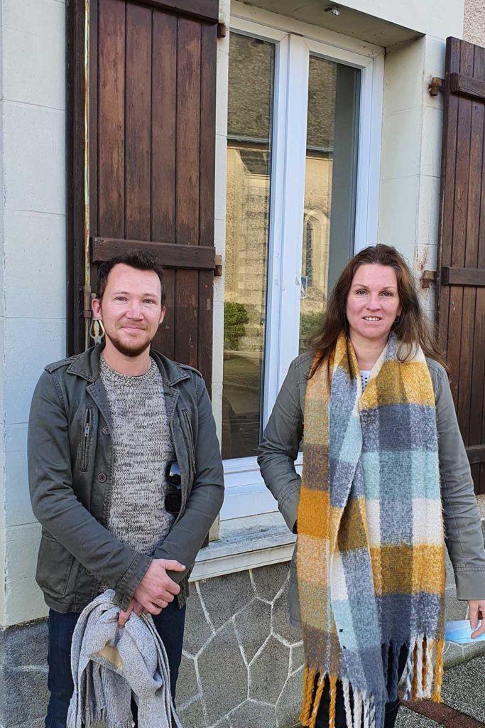 Charles Sourisce et Isabelle Mahe, les nouveaux vendeur.se des Halles de Châtelais