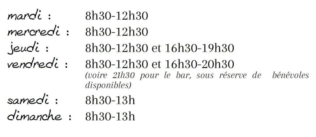 Les horaires d'ouverture des Halles de Châtelais