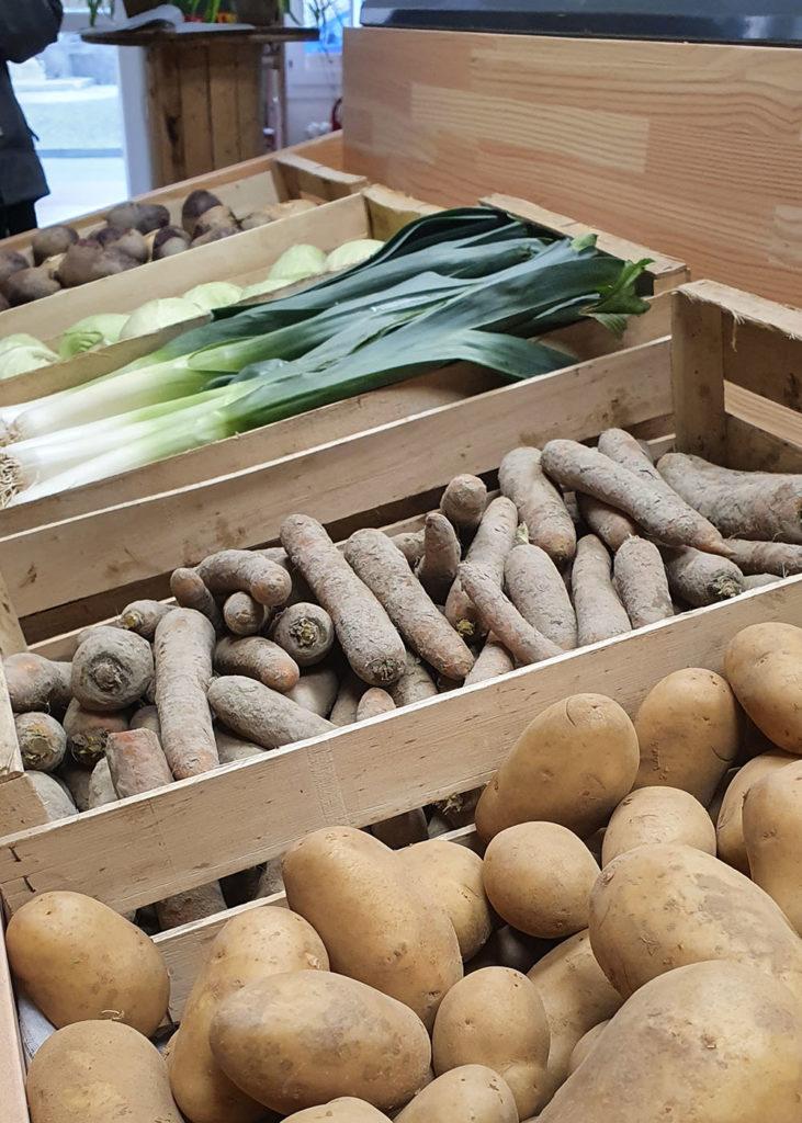 Les Halles de Châtelais, légumes d'hiver