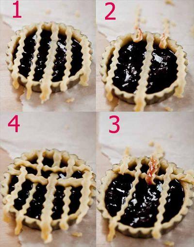 Astuce de comment créer des croisillons sur une tartelette