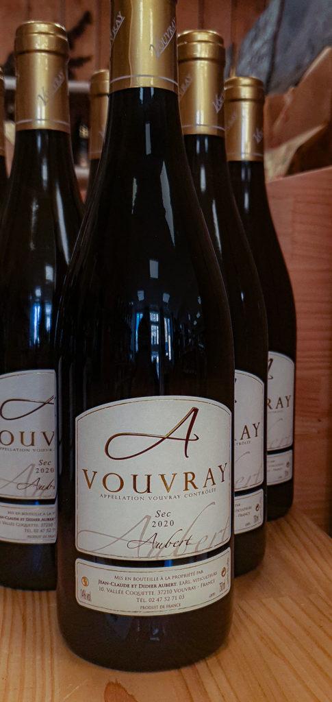 Vin de Vouvray du Domaine Aubert sec 2020 aux Halles de Châtelais